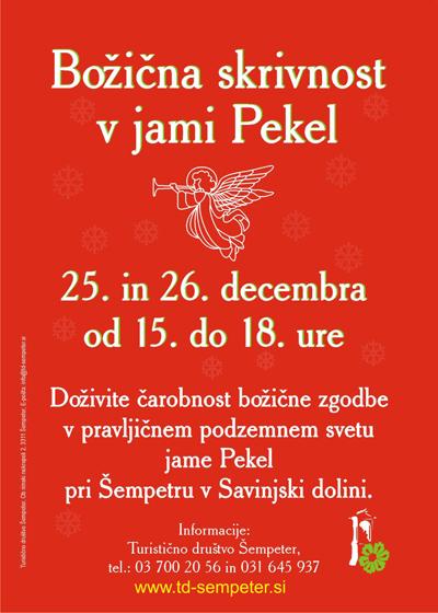 Božična skrivnost v jami Pekel