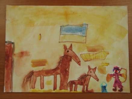 kmet in konji