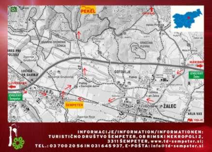 Zemljevid Jama Pekel